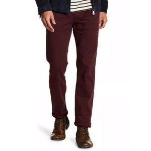 Joe's Jeans straight leg narrow plum burgundy